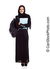 female Muslim college student