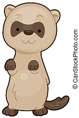 Cute Ferret - A Cute Ferret Standing on its Feet