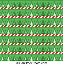 Cute festive background  with christmas trees and candy stripes print.