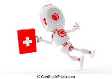 Cute first aid kit robot