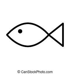cute fish animal line style icon