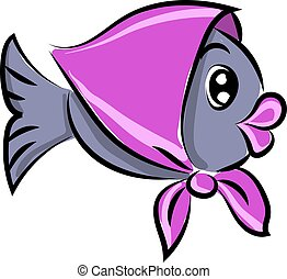 Cute fish, illustration, vector on white background.
