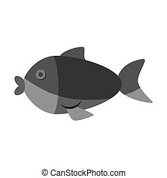 cute fish isolated icon