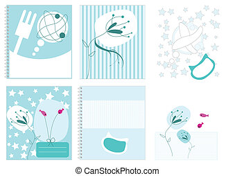 Cute fish notebook