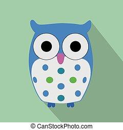 Cute Flat Owl