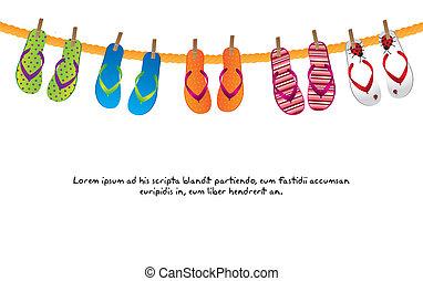 flip flops - cute flip flops isolated over white background...