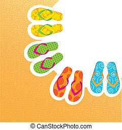 flip flops - cute flip flops with space for copy, background...