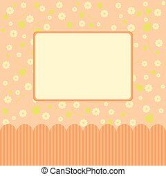 Cute floral card with flowers.