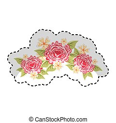cute floral decoration frame