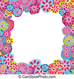 Cute floral frame for children