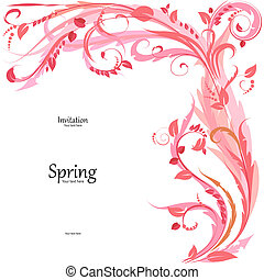 Cute floral frame for your design
