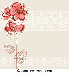 cute, floral, fundo