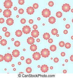 Cute floral pattern in shabby chic style. Vector flower seamless background