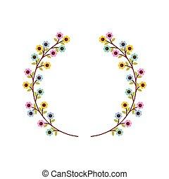 cute floral wreath decorative