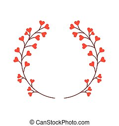 cute floral wreath decorative