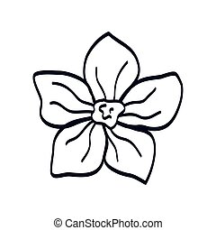 cute flower natural line style icon
