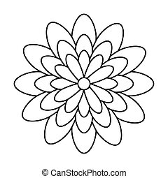 cute flower nature line style icon
