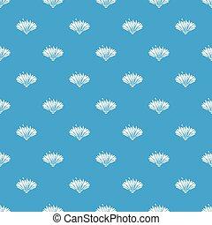 Cute flower pattern vector seamless blue