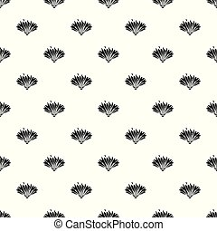 Cute flower pattern vector seamless