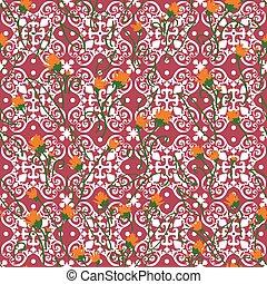 Cute Flower Tile Vector Pattern Seamless