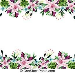 cute flowers border