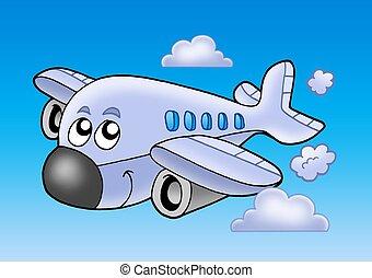 Cute flying airplane