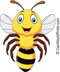 cute, flyve, isoleret, bi