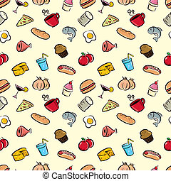 cute food pattern