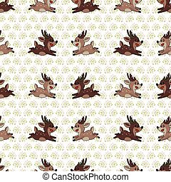 Cute forest two stag vector illustration. Buck deer with ...