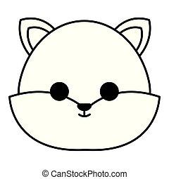 cute fox head character