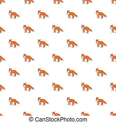 Cute fox pattern seamless