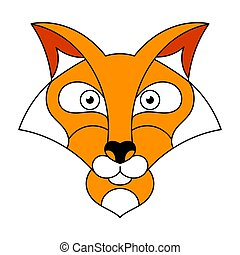 Cute Fox Vector Illustration On White Background