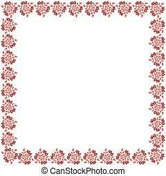 Cute frame made of colored arranged in a square
