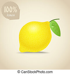 Cute fresh lemon illustration