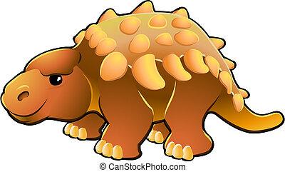 Cute Friendly Dinosaur - A vector illustration of a cute ...