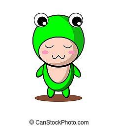 Cute Frog Mascot