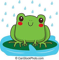 Cute Frog Smiling