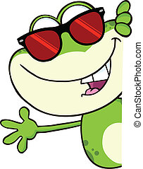 Cute Frog With Sunglasses