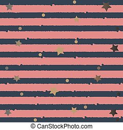 Cute Funky Pattern with golden stars