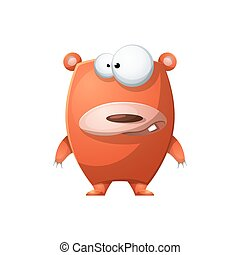 Cute, Funny bear - cartoon characters illustration.