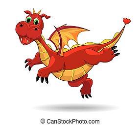 Cute funny dragon