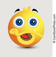 Cute Funny Duck Emoticon Vector Illustration