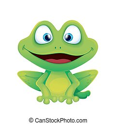 Cute Funny Frog Smiling