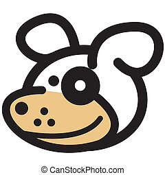 Cute Funny Happy Dog Clip Art
