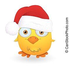 Cute Funny Santa Bird