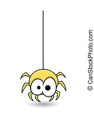 Cute Funny Spider Vector