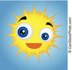 Cute Funny Sun Emoticon