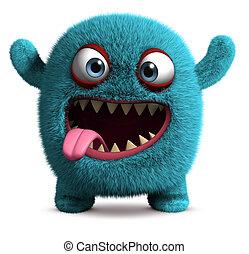 cute furry monster