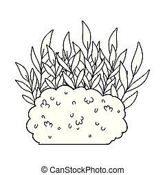 cute garden bush icon