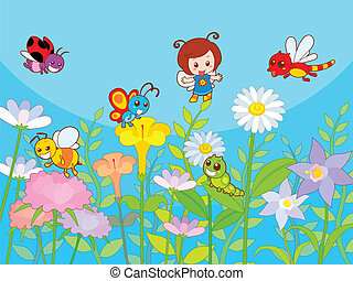 Cute Garden - Cute beautifully garden with happy and...